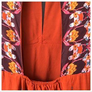 Ecote Dresses - UO Ecote Tyler Split Neck Bell Sleeve Mini Dress M